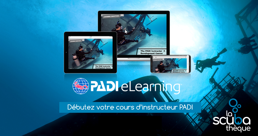 Ensemble pédagogique PADI IDC (eLearning) version 2019