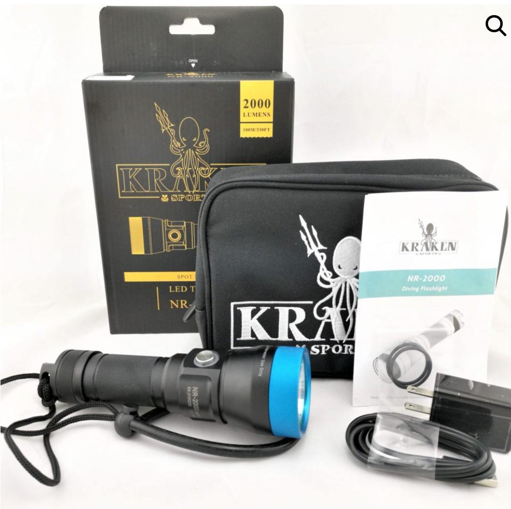 Lampe de plongée Kraken NR-2000