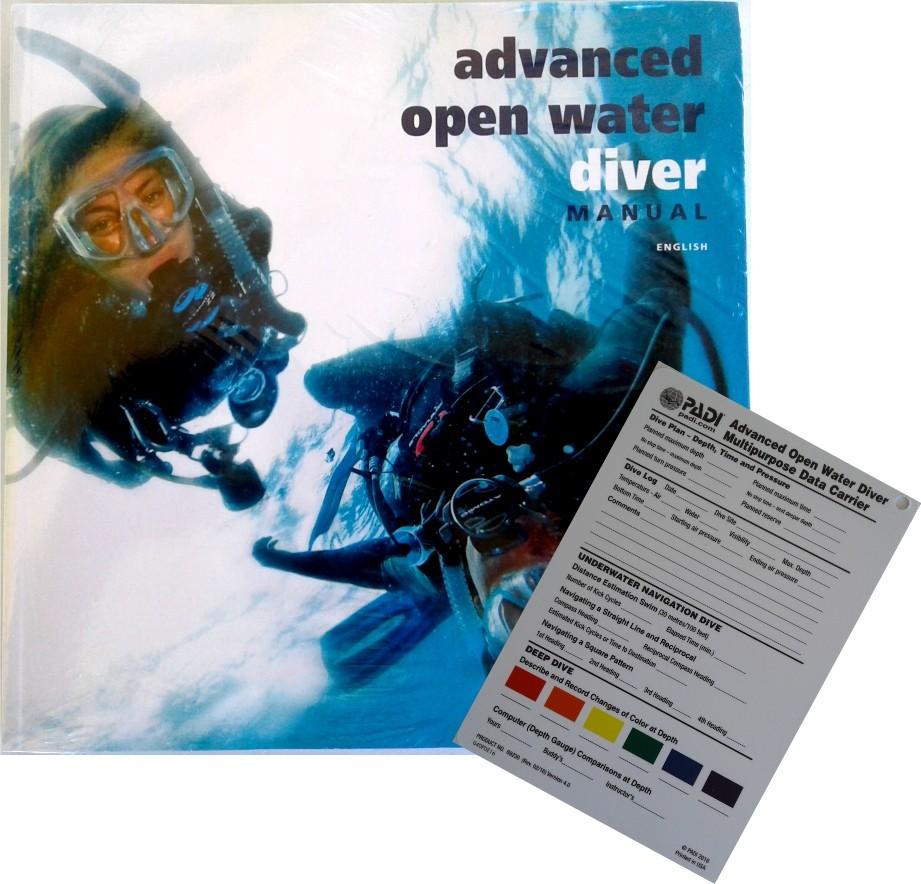 Manuel Padi ''Advanced Open Water'' avec porteur de données multifonctions