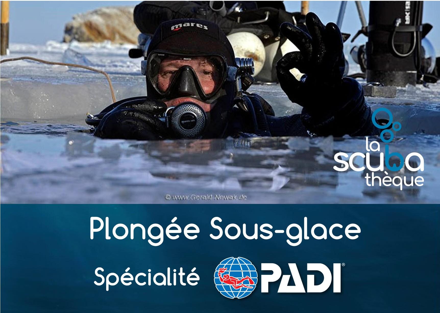 Spécialité PADI plongée sous glace à Valley FieId - Théorie à Québec le 12 mars  et à Valley FieId le 15 mars