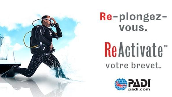 Remise à niveau - PADI ReActivate - Prochaine date le 12 mars 2020