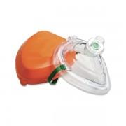 Masque de poche rigide avec prise pour oxygène
