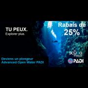 Advanced Open Water Diver PADI - Prochaine date le  2 juillet 2020