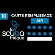 Carte de remplissage à l'air - Centre de plongée La Scubathèque
