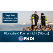 Plongeur à l'air enrichi (NITROX) - Spécialité PADI (prochaines dates: 23 et 30 avril 2020)