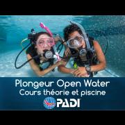 Plongeur Open Water PADI - Théorie & Piscine (sur fin de semaine - 2 jours)
