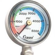 Manomètre de pression Cressi (PSI) (Sans tuyau et sans botte)