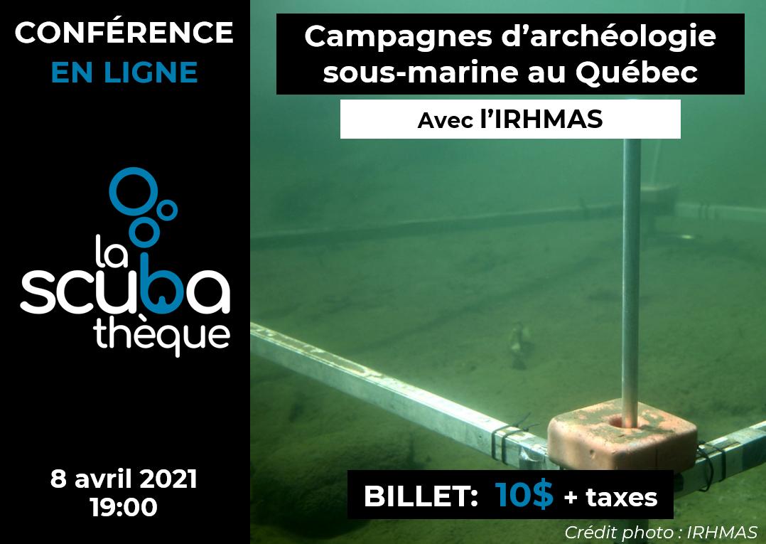 Conférence sur l'archéologie sous-marine - 9 avril 2020