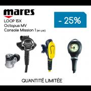 Ensemble Détendeurs MARES LOOP 15X / Octopus MV / Console Mission 1 (en PSI)