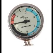 Manomètre Mares XR avec tuyau haute pression Mylfex de 15cm 100% Oxygen