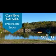 Carrière Neuville - droit d'accès pour 2 personnes Plongée libre - Prochaine date 13 mai 2021