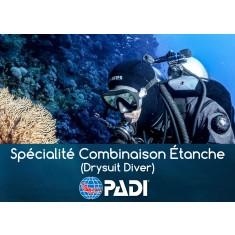 Plongée en Combinaison étanche Spécialité PADI (prochaine date 8 août 2019)