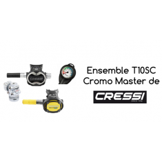 Ensemble de détendeurs CRESSI T10-SC / Master Cromo