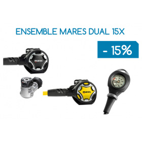 Ensemble Détendeur MARES DUAL 15X / Octopus DUAL / Console Mission 1 (PRIX DÉJÀ RÉDUIT)