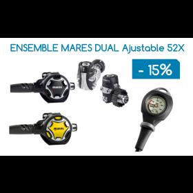 Ensemble Détendeur MARES DUAL ADJ 52X / Octopus DUAL ADJ / Console Mission (PRIX DÉJÀ RÉDUIT)