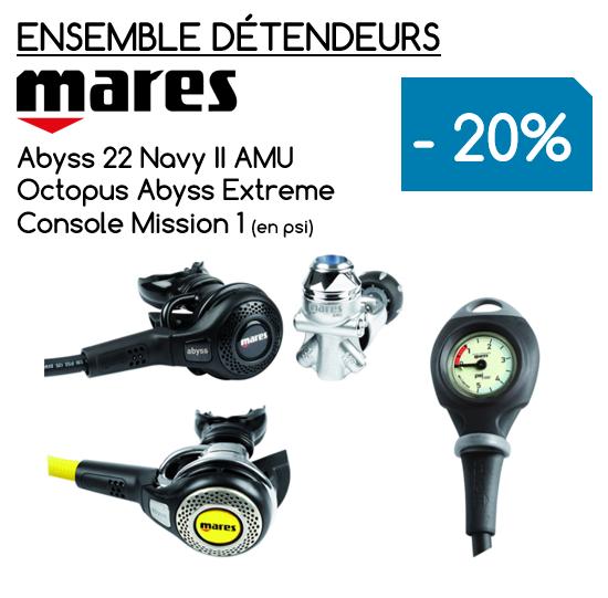 Ensemble Détendeur MARES Abyss Navy 22 AMU / Octopus Abyss / Console Mission 1 (PRIX DÉJÀ RÉDUIT)