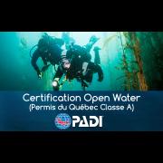 Certification Open Water PADI sur 2 jours (Permis Québec Classe A)