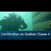 Certification Permis du Québec Classe A (pour plongeur déjà certifié)