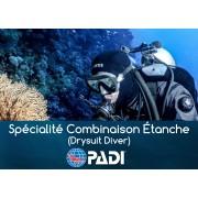 Plongée en Combinaison étanche Spécialité PADI (Prochaine date 20 mai 2021)
